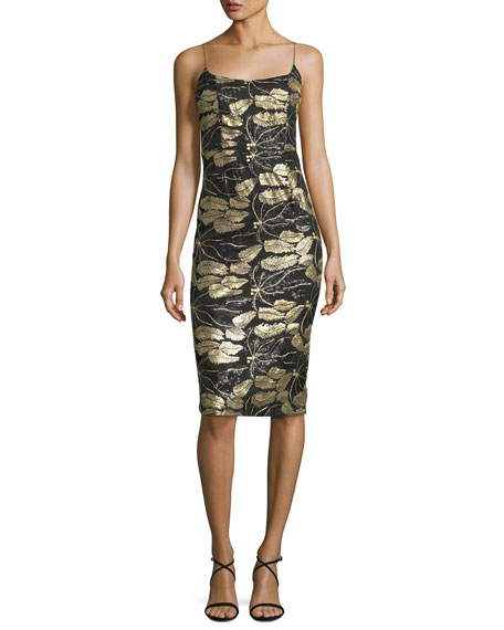 Mestiza New York Sleeveless Beaded Cocktail Sheath Dress
