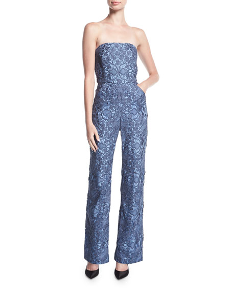 Mestiza New York Strapless Retro Lace Jumpsuit