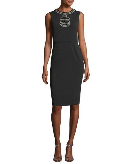 Mestiza New York Maria Luisa Sleeveless Beaded Cocktail