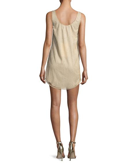 Vertical Beaded Tank Cocktail Dress