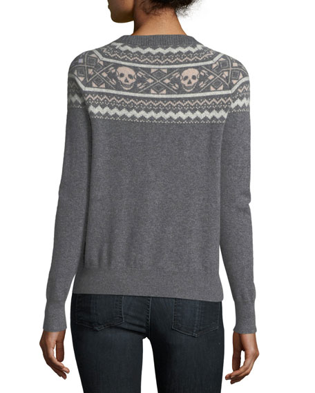Miley Crewneck Long-Sleeve Cashmere Sweater