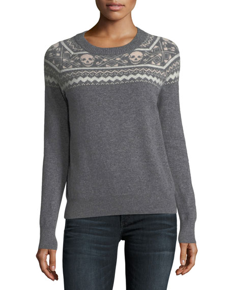 360Sweater Miley Crewneck Long-Sleeve Cashmere Sweater