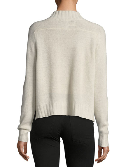 Delanie Mock-Neck Pullover Cashmere Sweater