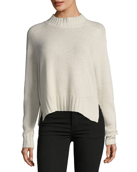360Sweater Delanie Mock-Neck Pullover Cashmere Sweater