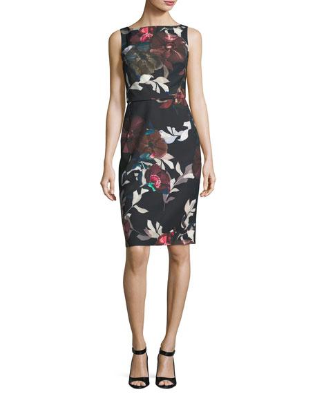 Trina Turk Beverly Sleeveless Floral-Print Dress