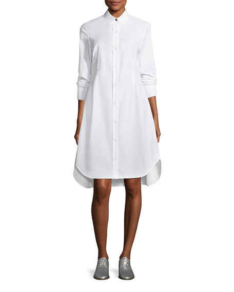 Rag & Bone Albion Button-Front Long-Sleeve Poplin Shirtdress