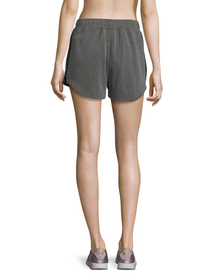 Paneled Run Double-Fleece Shorts