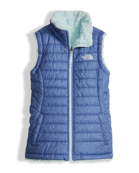 The North Face Girls' Reversible Mossbud Swirl Vest,