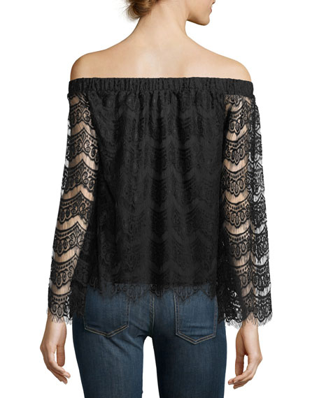 Lace Off-The-Shoulder Tee