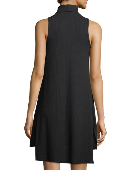 V-Neck Sleeveless Rib-Knit Dress