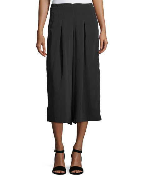 Fourteenth Place Palazzo Wide-Leg Cropped Pants