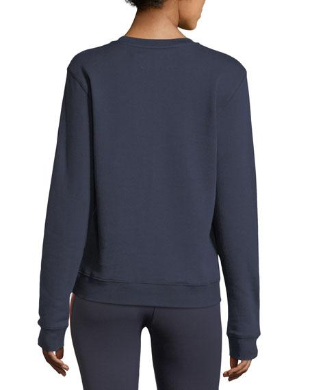 Peace Letterman Crewneck Cotton Sweatshirt
