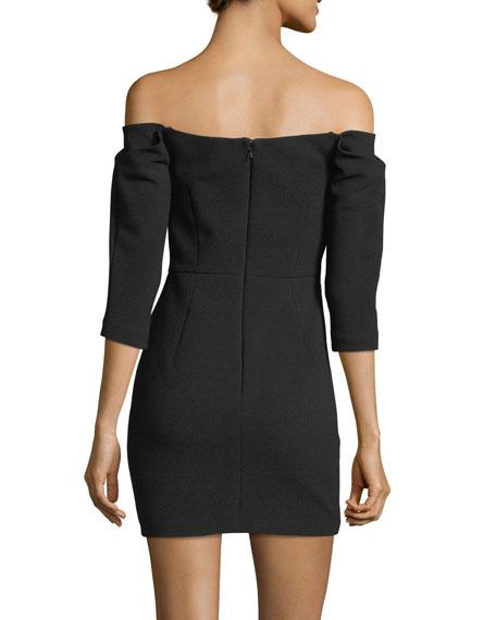 Esta Off-the-Shoulder Fitted Mini Cocktail Dress