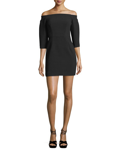 Esta Off-the-Shoulder Fitted Mini Cocktail Dress