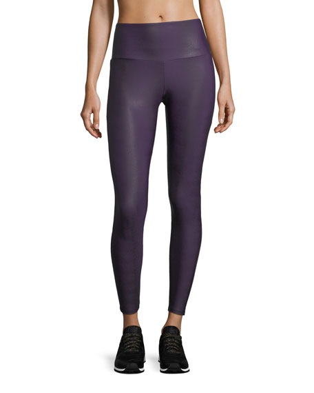 Onzie High-Rise Textured Performance Leggings w/ Mesh