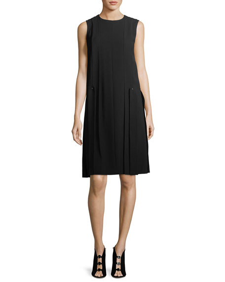 Zaida Sleeveless Finesse Crepe Dress