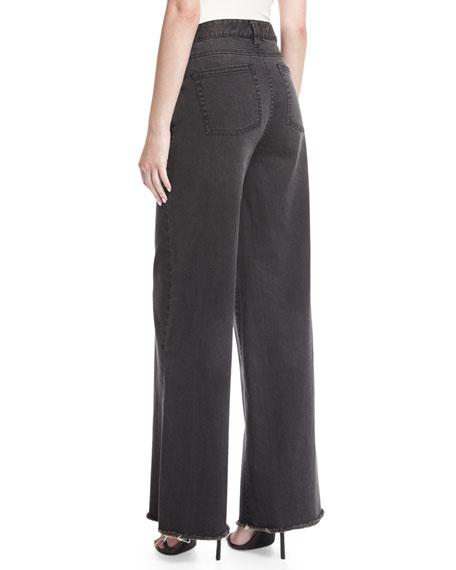 High-Waist Wide-Leg Denim Pants