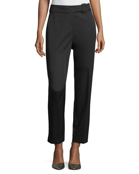 Robert Rodriguez Waistband Detail Wool Straight-Leg Pants and