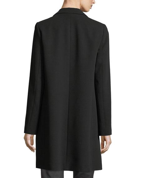 Mattia Notched-Lapel Finesse Crepe Jacket, Plus Size