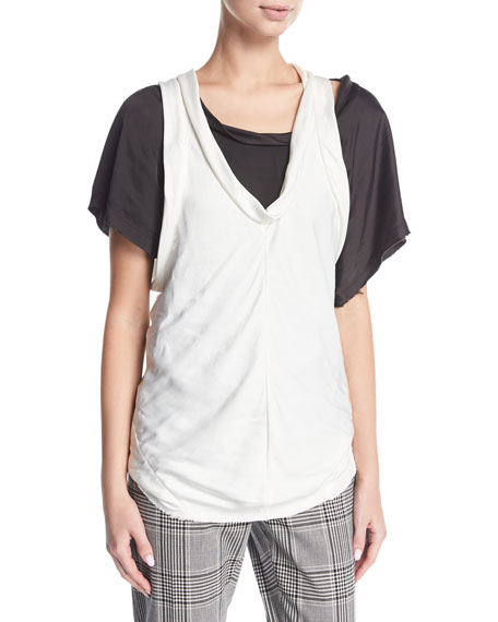 Alexander Wang Paneled Bias-Cut Tank Top