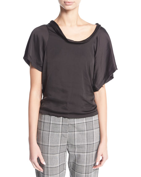 Alexander Wang Twisted Short-Sleeve Tee
