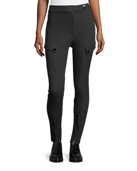Alexander Wang High-Waist Technical Leggings