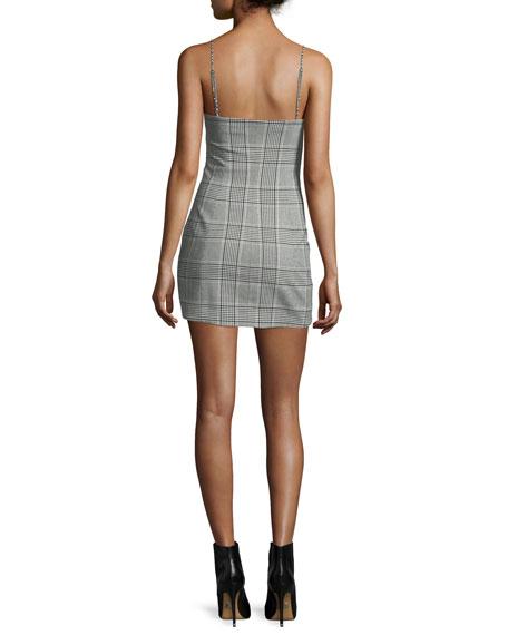 Plaid Scoop-Neck Minidress