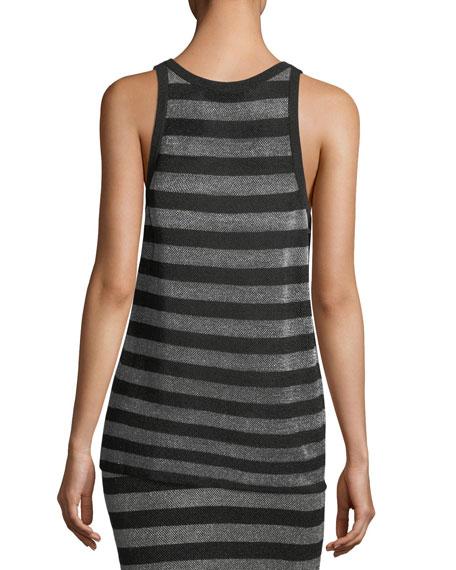 Lurex Striped Knit Tank Top