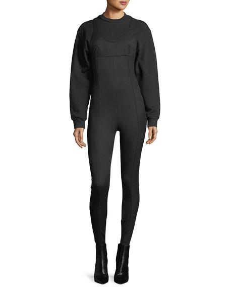 Alexander Wang Skinny Sweatshirt Jumpsuit