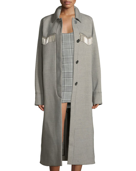 Alexander Wang Check Western Car Coat