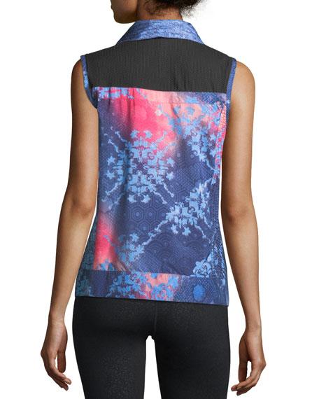 Packable Laser-Cut Print Vest