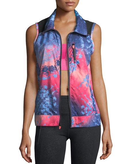 Nanette Lepore Play Packable Laser-Cut Print Vest