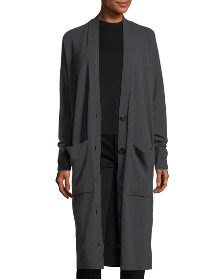 Lafayette 148 New York Long Button-Front Merino/Cashmere