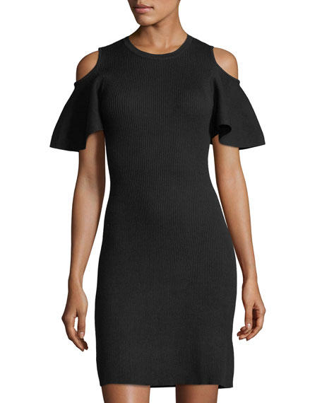 Laundry By Shelli Segal Cold-Shoulder Sweater Dress