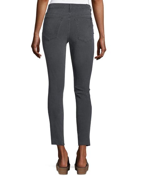 Skinny Ankle Cut-Hem Jeans, Gray