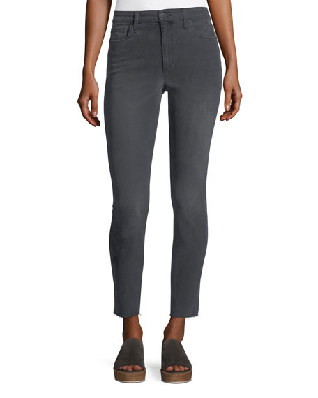Joe's Jeans Skinny Ankle Cut-Hem Jeans, Gray