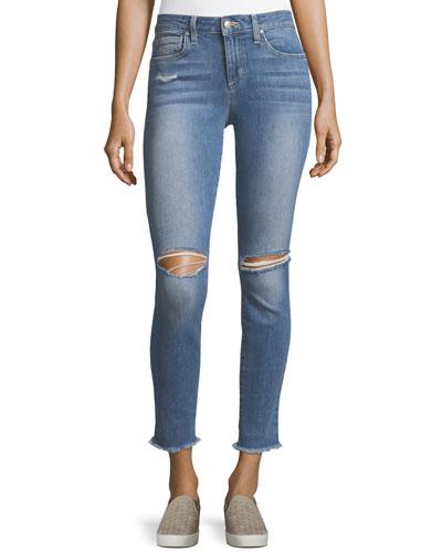Finn Skinny Distressed Ankle Jeans
