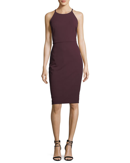 Lace-Back Halter-Neck Dress
