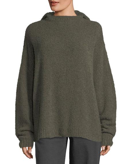 Merino Wool Hooded Pullover Sweatshirt