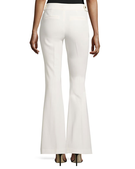 Phoebe High-Rise Flared Crepe Pants