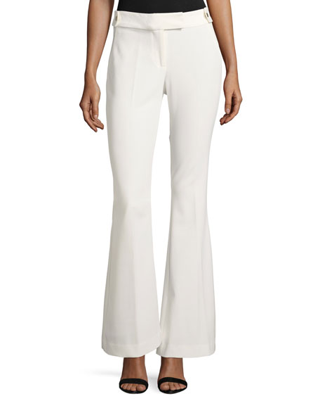 Rachel Zoe Phoebe High-Rise Flared Crepe Pants