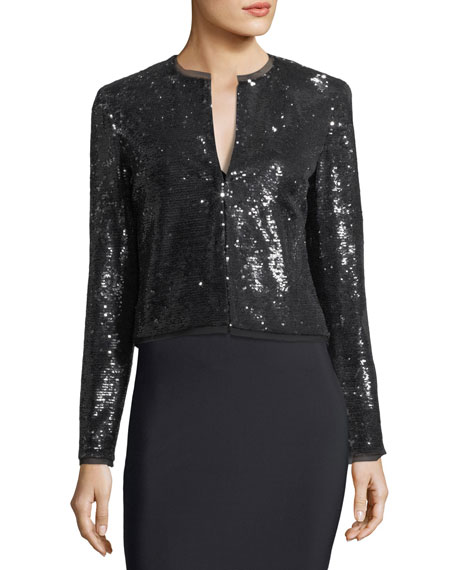 Dolly Long-Sleeve Sequined Jacket