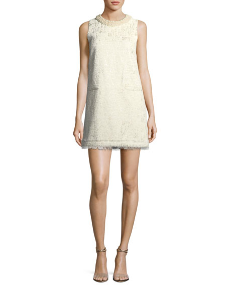 Rachel Zoe Spencer Sleeveless Metallic Brocade A-line Dress