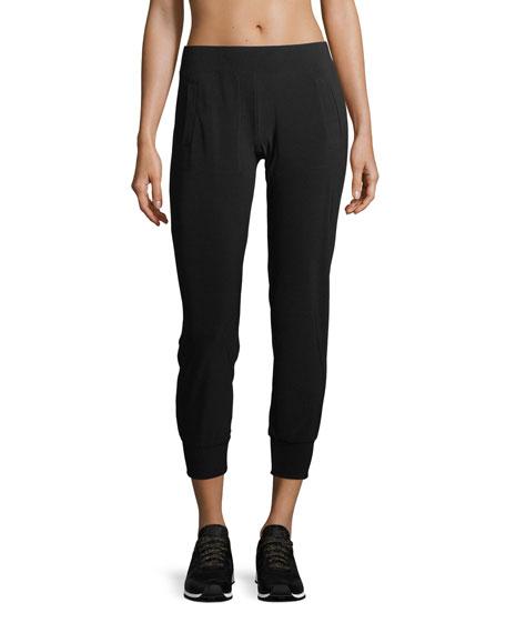 Norma Kamali Pull-On Stretch-Jersey Jogger Pants