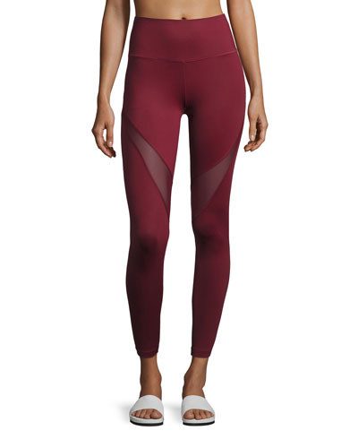 Windsor Mesh-Panel Sport Leggings