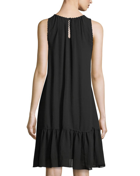Lace-Yoke Shift Dress