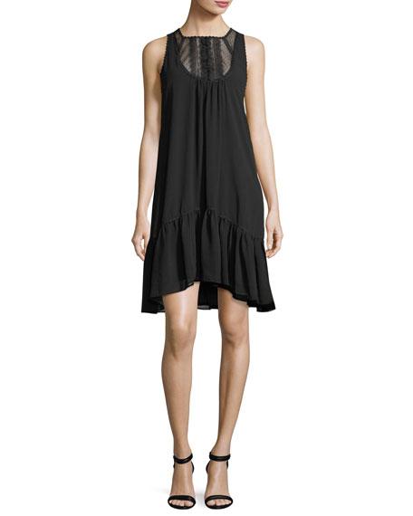 Lace-Yoke Shift Dress