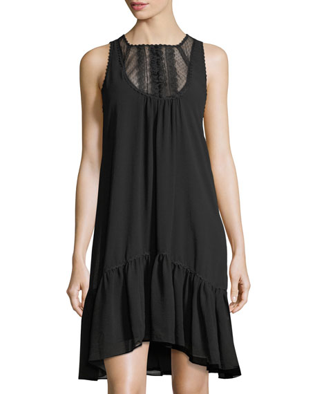 Max Studio Lace-Yoke Shift Dress