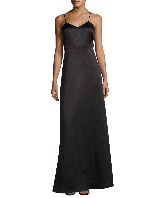 Halston Heritage Sleeveless V-Neck Structured Evening Gown | Neiman ...