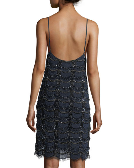Embellished Cocktail Slip Dress
